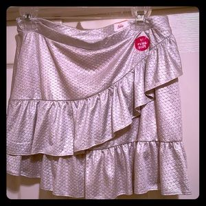 Justice Silver Size 14/16 Plus Skirt